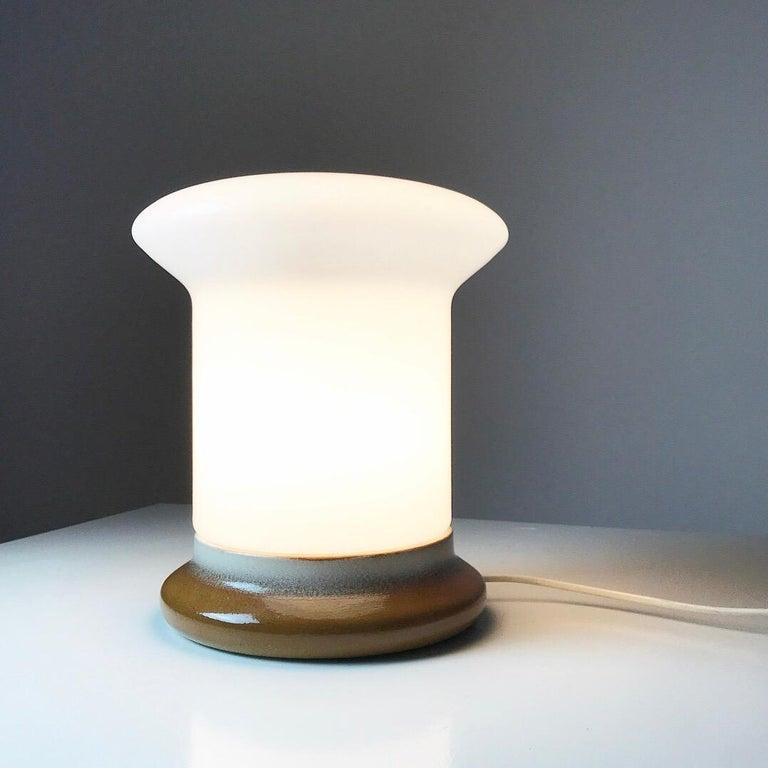 Ceramic Table Lamp by Ivan Jakes for Osvetlovski Sklo, Czechoslovakia, 1960s For Sale