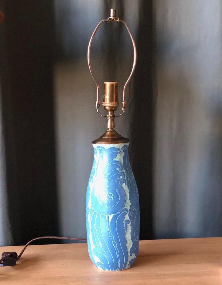 A table lamp by Josef Ekberg for Gustavsberg,
