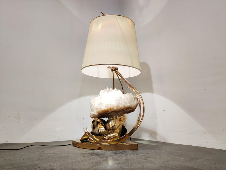 Hollywood Regency Table Lamp by Marc D'Haenens, 1970s For Sale