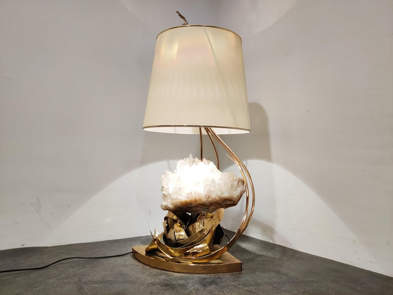 Brass Table Lamp by Marc D'Haenens, 1970s For Sale