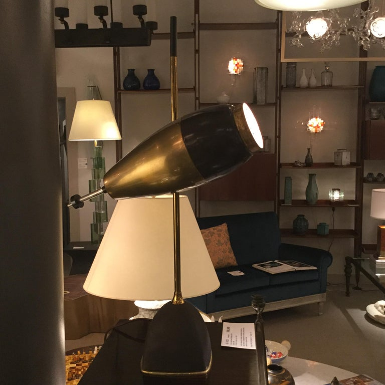 Cast Table Lamp by Oscar Torlasco for Lumi, Italy, 1960 For Sale