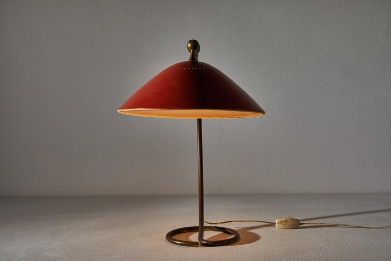 Enameled Table Lamp by Stilnovo For Sale