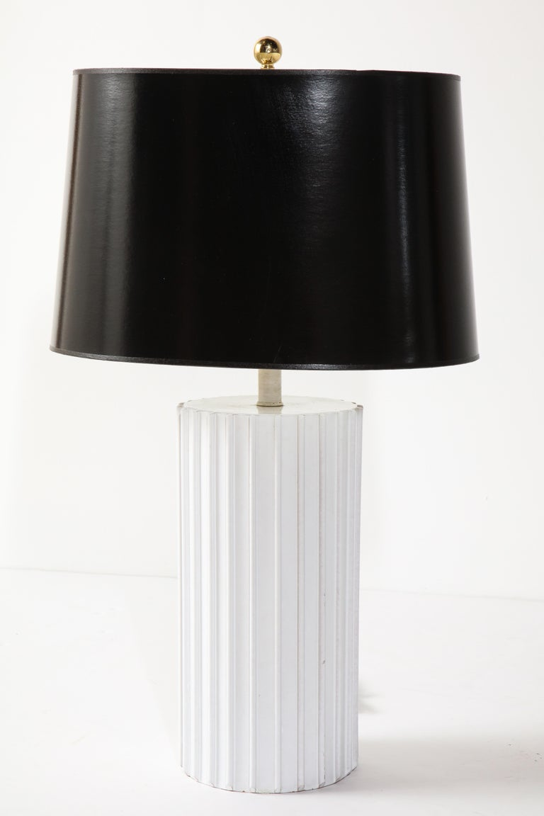 Decorative white ceramic lamp base is 15.5