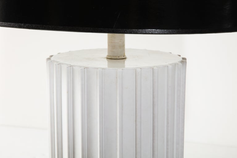 Mid-Century Modern Table Lamp, Ceramic, White, Midcentury, circa 1960, Vintage For Sale