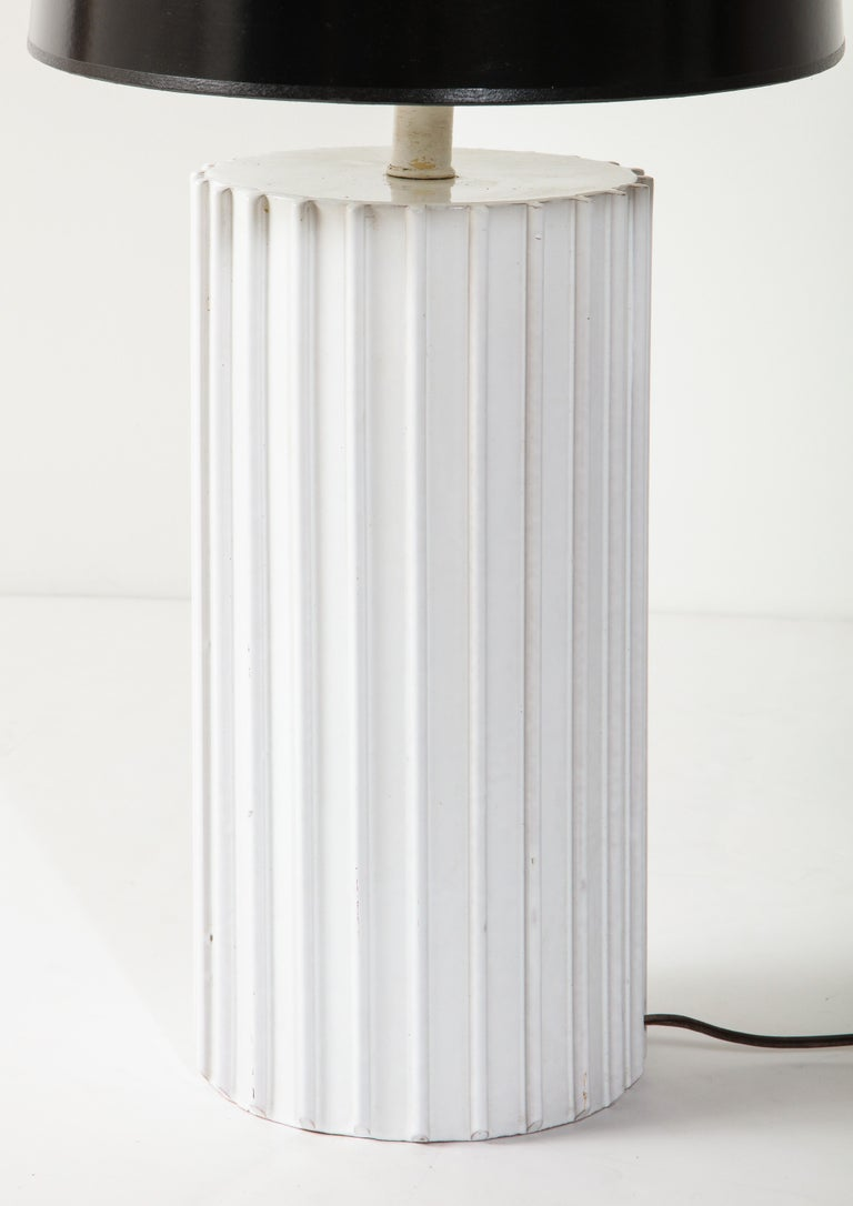 Mid-20th Century Table Lamp, Ceramic, White, Midcentury, circa 1960, Vintage For Sale