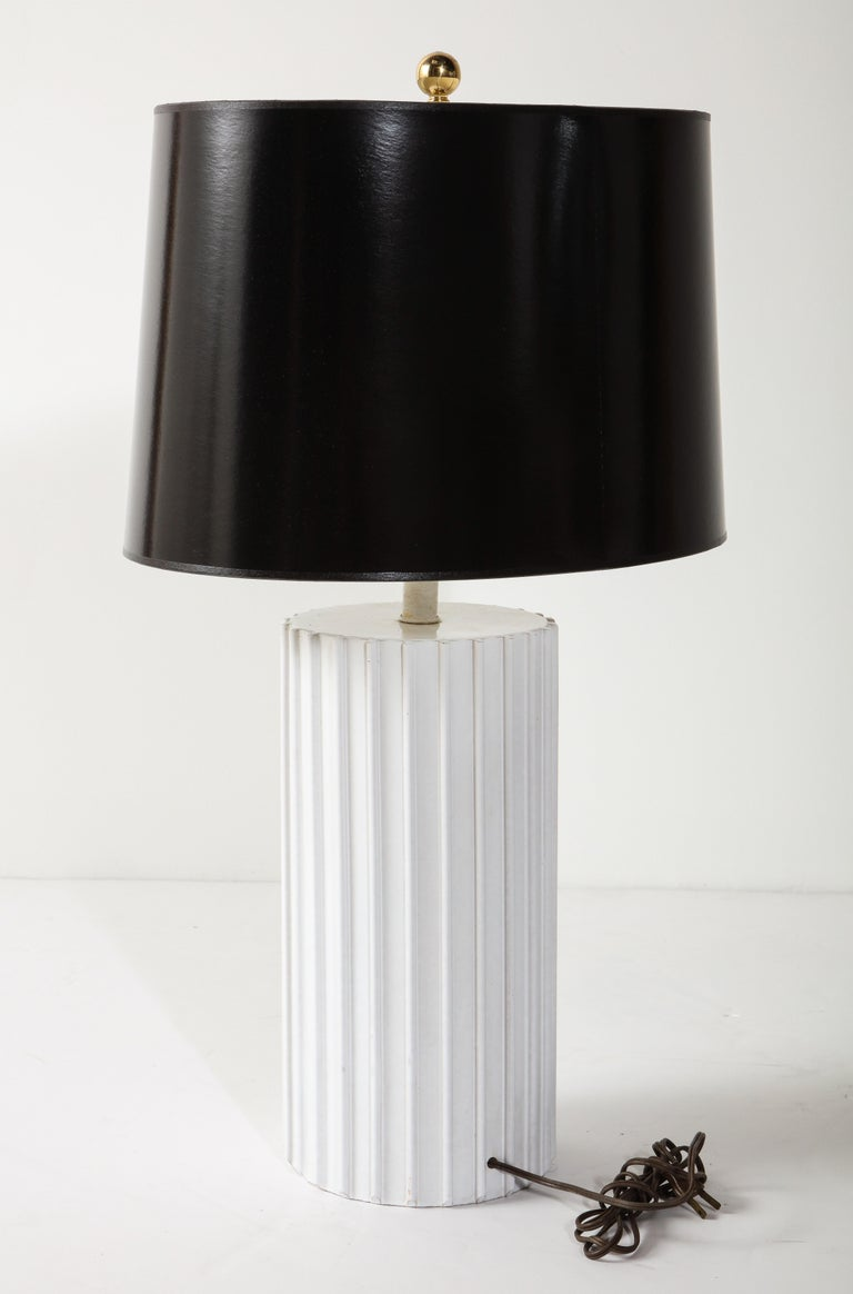 Table Lamp, Ceramic, White, Midcentury, circa 1960, Vintage For Sale 1