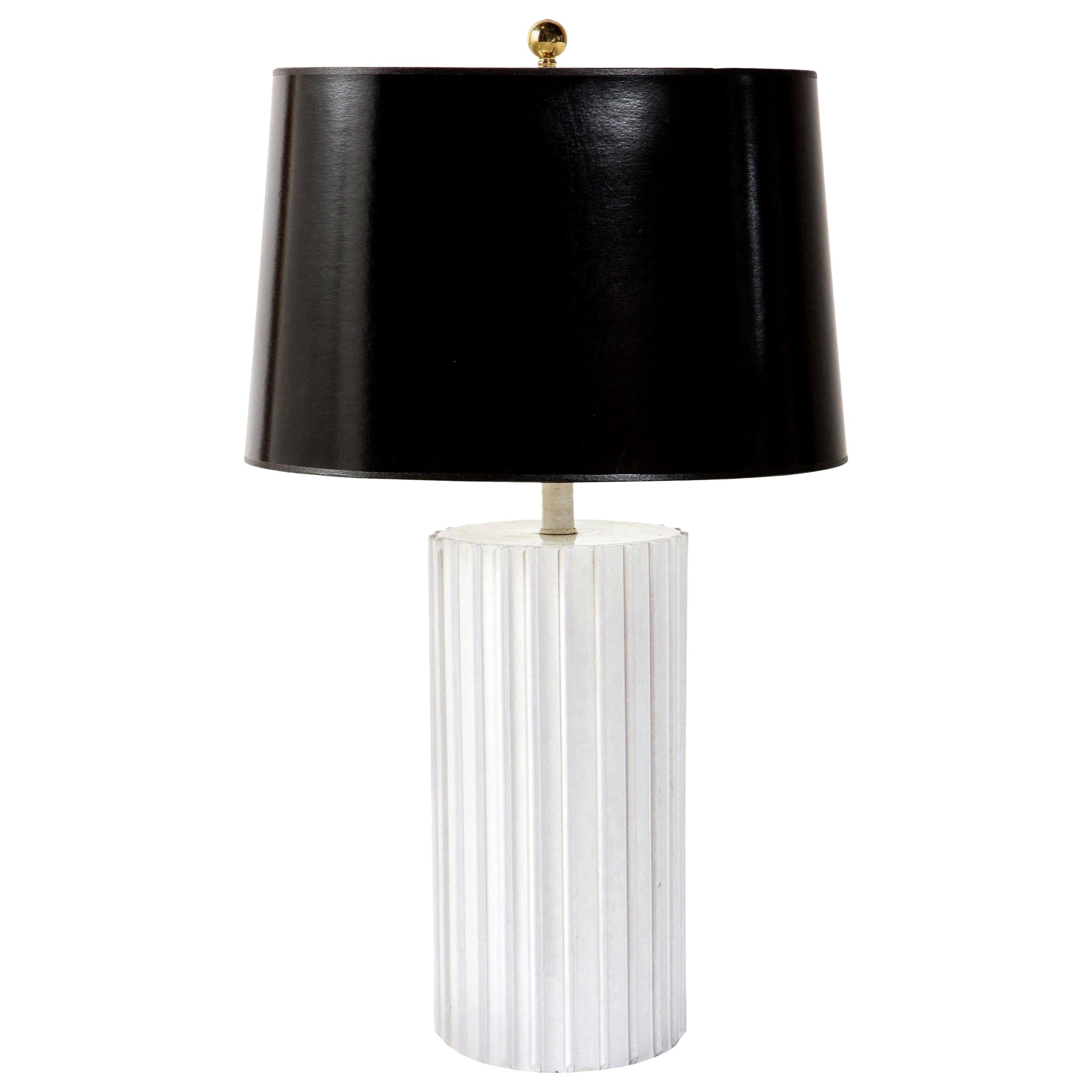 Table Lamp, Ceramic, White, Midcentury, circa 1960, Vintage, Good Condition