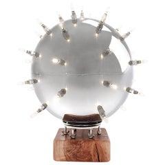 Table Lamp Sputnik Contemporary Design Chrome effect Sphere Polished Steel