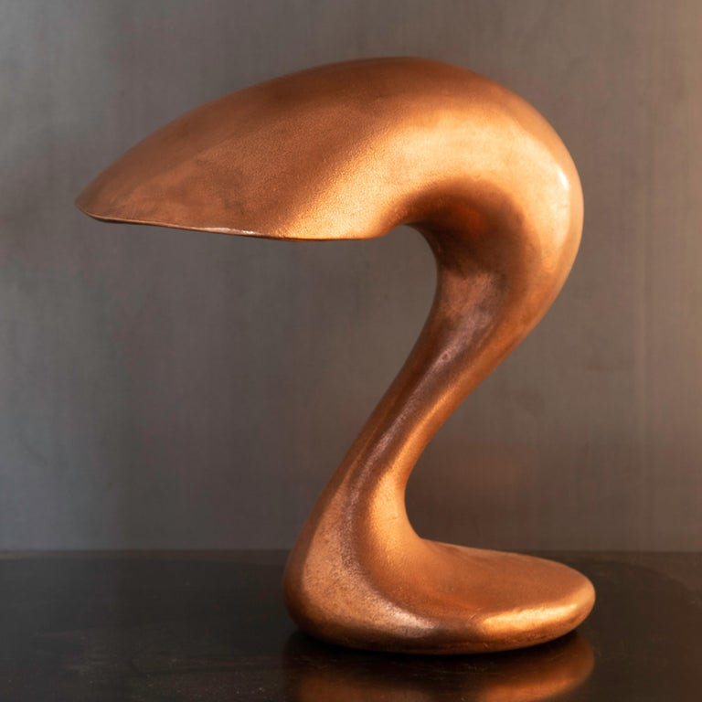 Modern Table Lamp, Eliza's Big Question, Burnished Copper, Jordan Mozer USA, 2002 For Sale