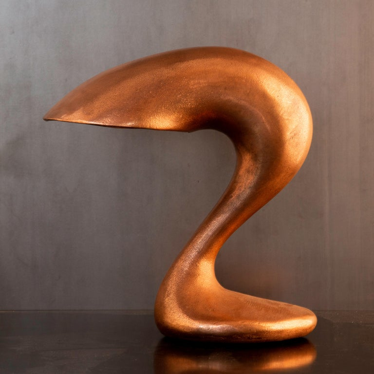 American Table Lamp, Eliza's Big Question, Burnished Copper, Jordan Mozer USA, 2002 For Sale
