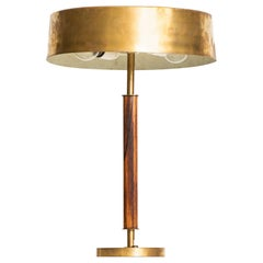 Table Lamp in Brass and Rosewood Produced by Boréns in Sweden