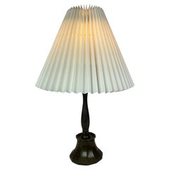 Table Lamp in Disco-Metal by Just Andersen with Paper Shade, 1930s