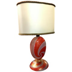 Table Lamp in Murano Glass by Seguso, Italy