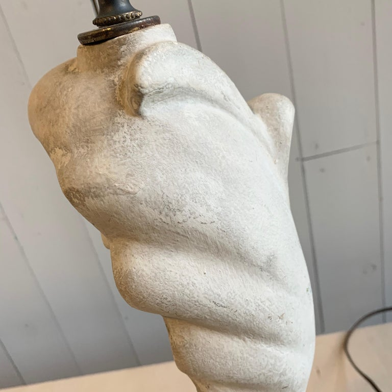 Table Lamp in Plaster, Serge Roche, 1940s For Sale 3