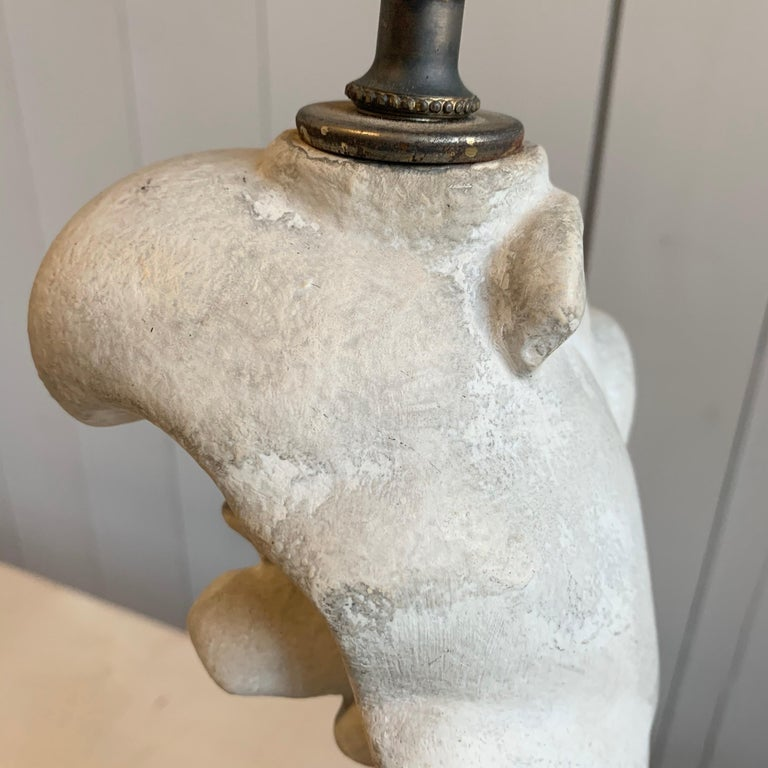 20th Century Table Lamp in Plaster, Serge Roche, 1940s For Sale
