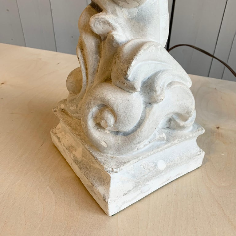 Table Lamp in Plaster, Serge Roche, 1940s For Sale 1