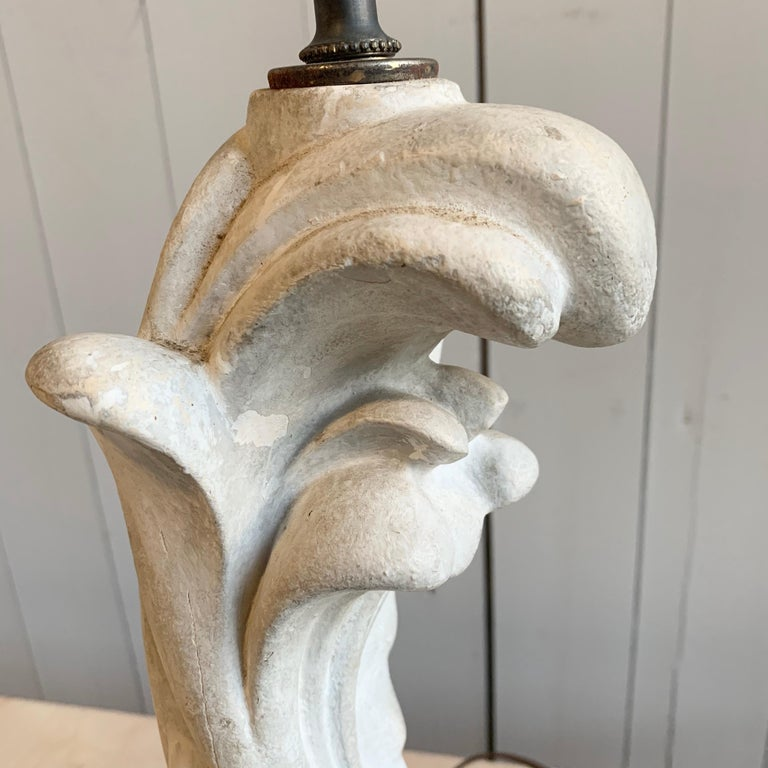Table Lamp in Plaster, Serge Roche, 1940s For Sale 2