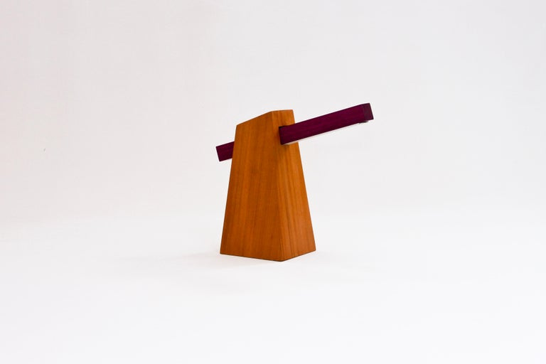 Woodwork Table Lamp in Wood, Brazilian Contemporary Design by O Formigueiro For Sale