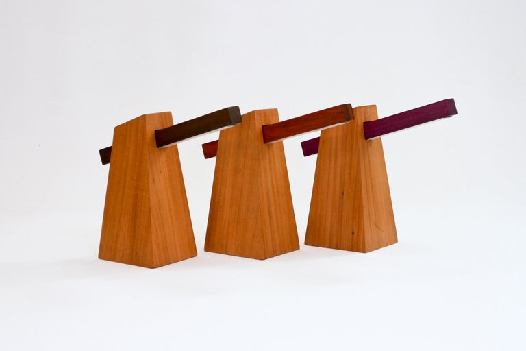 Reclaimed Wood Table Lamp in Wood, Brazilian Contemporary Design by O Formigueiro For Sale