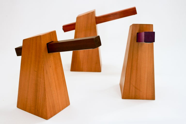 Table Lamp in Wood, Brazilian Contemporary Design by O Formigueiro For Sale 1