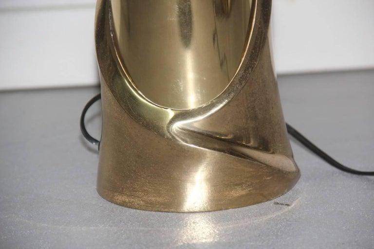 Table Lamp Luciano Frigerio 1970s Scultura Brass Italian Design For Sale 1