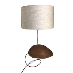 Table Lamp Made of Tropical Hardwood in Brazilian Contemporary Design