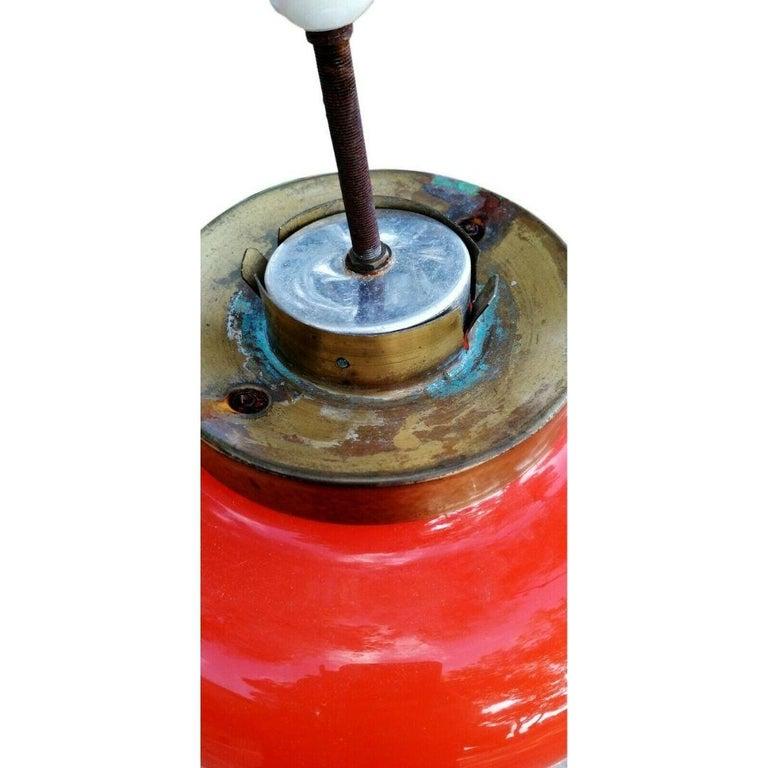 Italian Table Lamp Murano Glass Blown Manufacture Mazzega, 1960s For Sale