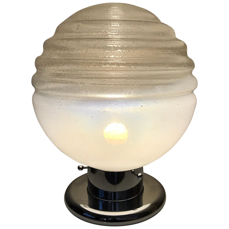 Table Lamp Murano Mazzega Glass, 1970s