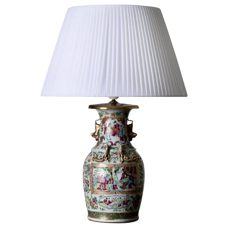 Table Lamp Oriental Colors 19th Century, China For Sale