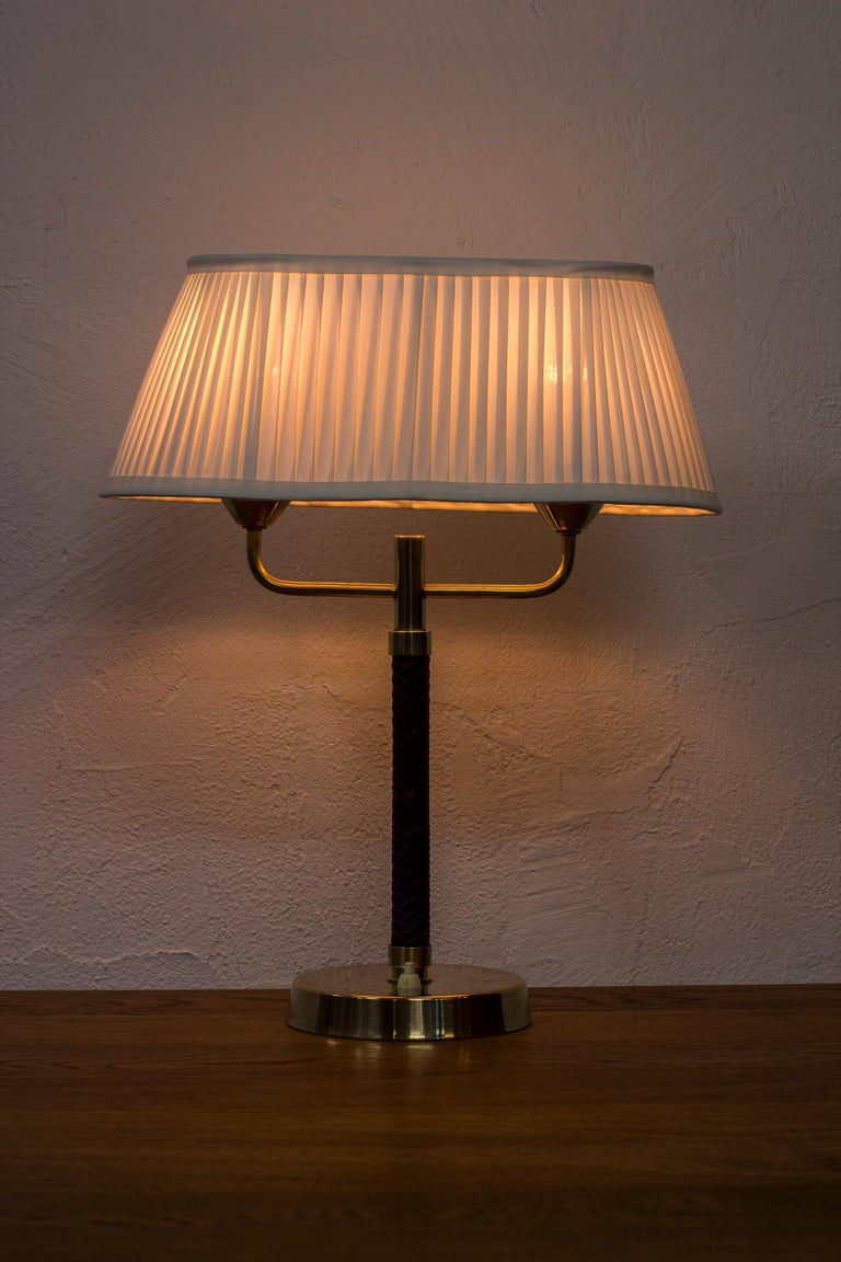 Table Lamp Produced by Karlskrona Lampfabrik in Sweden, 1940s-1950s For Sale 1