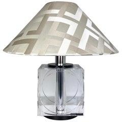 Table Lamp Signed Felice Antonio Botta in Lucite, Firenze, Italy, 1970s