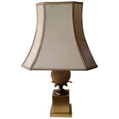 Table Lamp with Pineapple Foot from Maison Charles / Jansen, circa 1960-1970