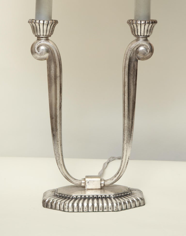 Table Lamps Art Deco Silver Plated, France, 1920s For Sale 1