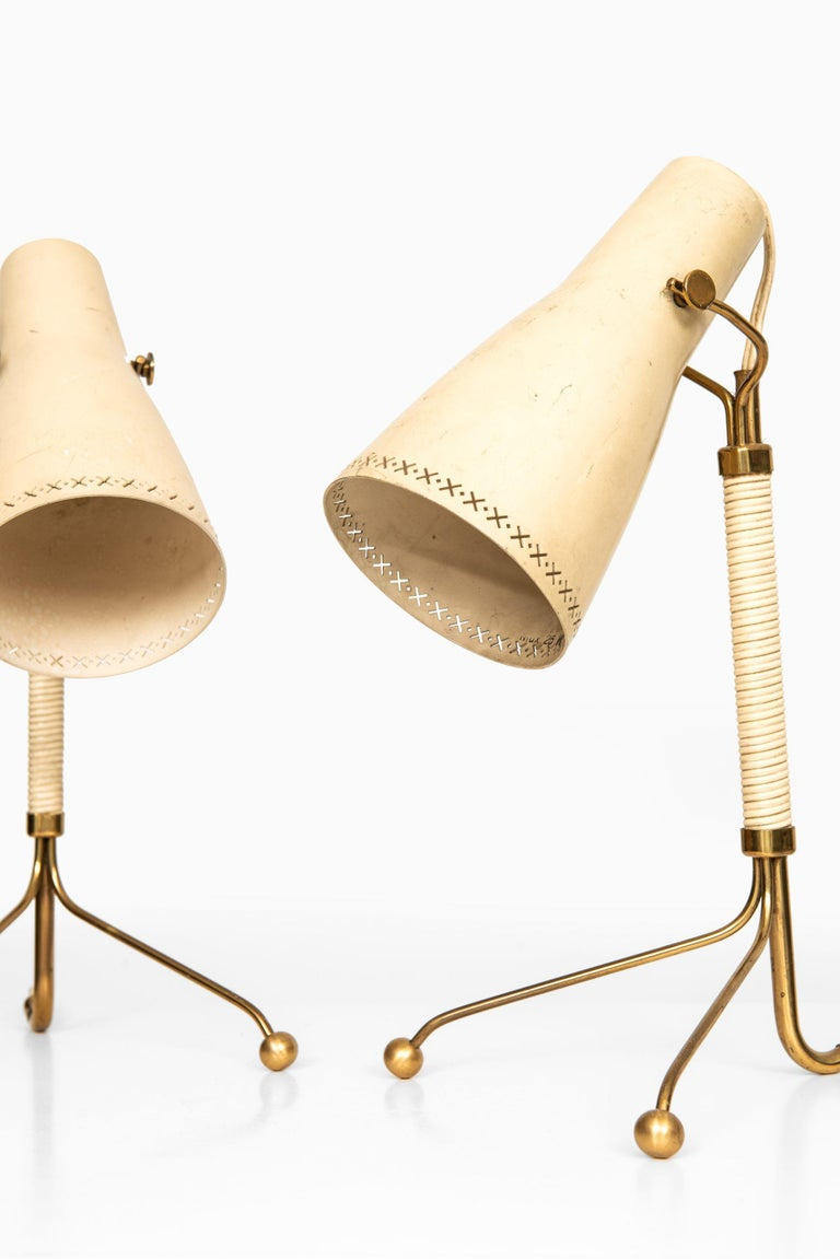 Rare pair of table lamps attributed to Hans Bergström. Produced by ASEA in Sweden.