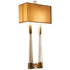 Table Lamps Brass Bronze Gold Satin Crystal Handcrafted