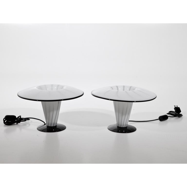 Glass Table Lamps, Italy, Mid-20th Century For Sale