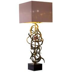 Table Lamps Lampshade Brass Bronze Rose Quartz Ebony Macassar