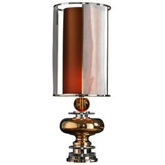 Table Lamps Lampshade Majolica Brass Gold Platinum Crystal