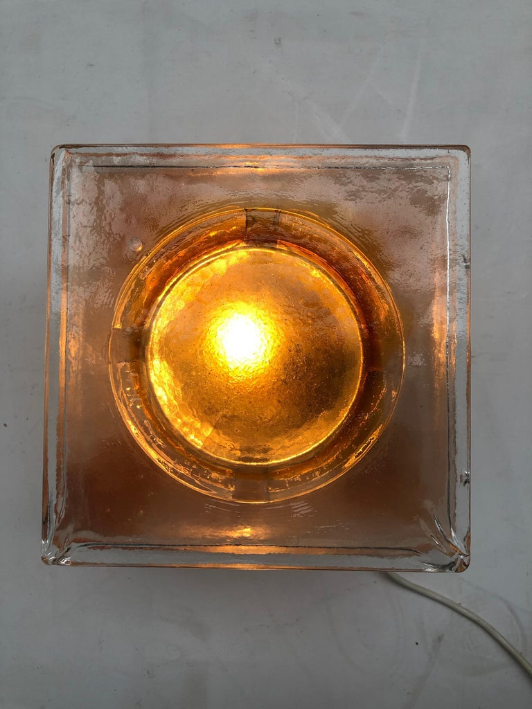 Table Light Sculpture Design by Albano Poli for Poliarte, Italy, 1970s For Sale 3