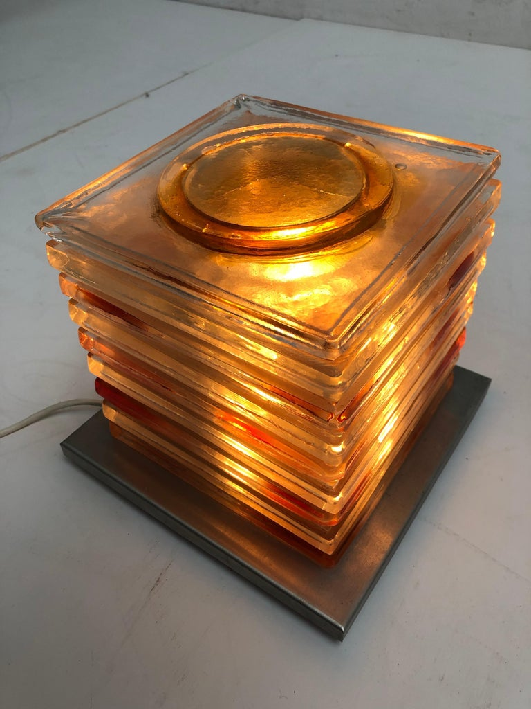 Table Light Sculpture Design by Albano Poli for Poliarte, Italy, 1970s For Sale 5