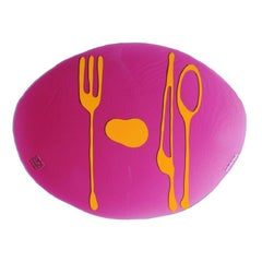 Set of 4 Table Mates Placemats in Clear Fuchsia and Yellow by Gaetano Pesce