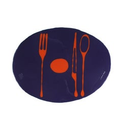 Set of 4 Table Mates Placemats in Purple and Orange by Gaetano Pesce