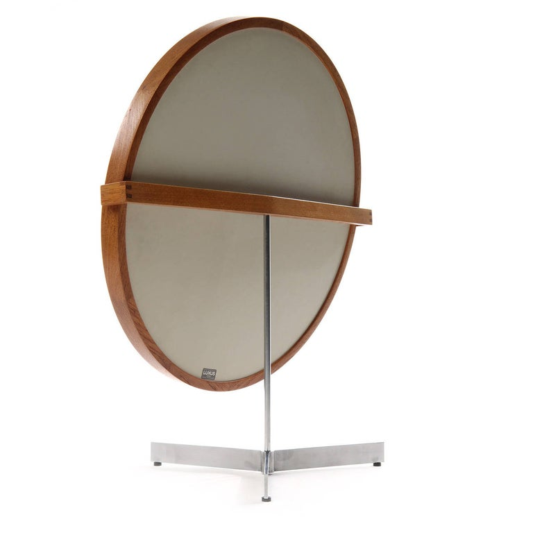 Steel Table Mirror by Uno and Osten Kristiansson For Sale