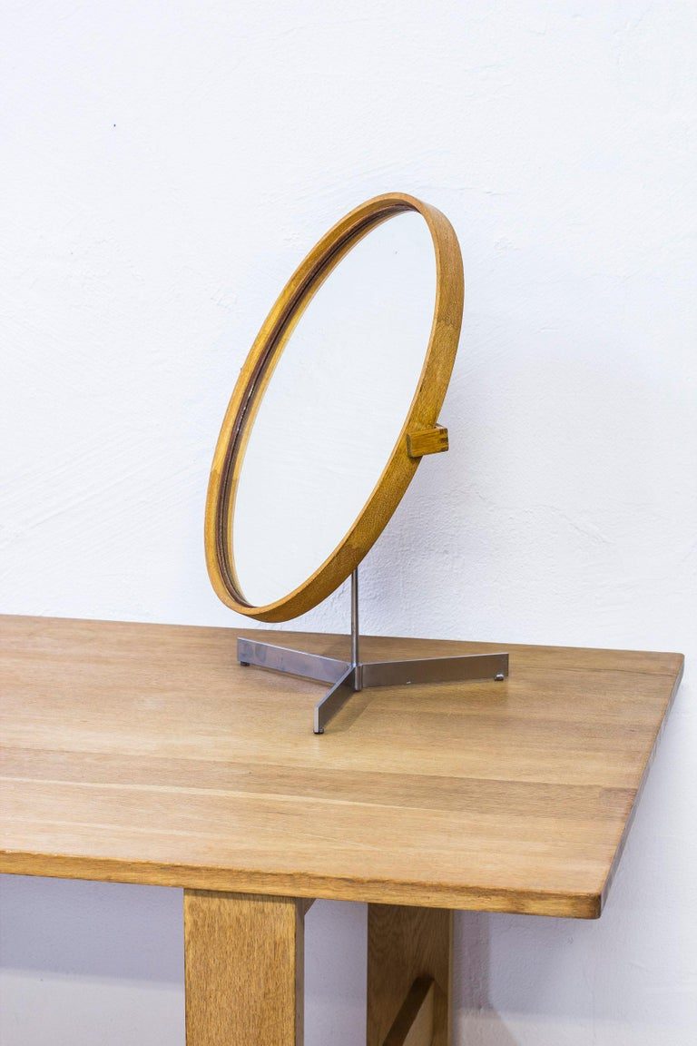 Table Mirror by Uno & Östen Kristiansson for Luxus, Sweden, 1950s For Sale 4