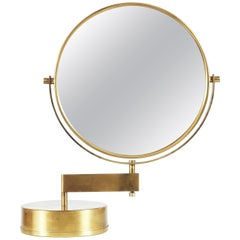 Table Mirror in Brass by Hans-Agne Jakobsson, Markaryd, Sweden