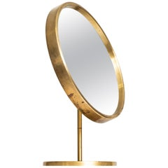 Table mirror in brass produced by Glas mäster in Sweden