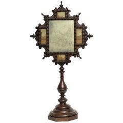 Table Mirror, Italy, 1830, with Paesina Stone