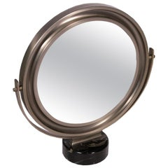 Table Mirror Sergio Mazza Marble Chromed Metal, 1960s-1970s