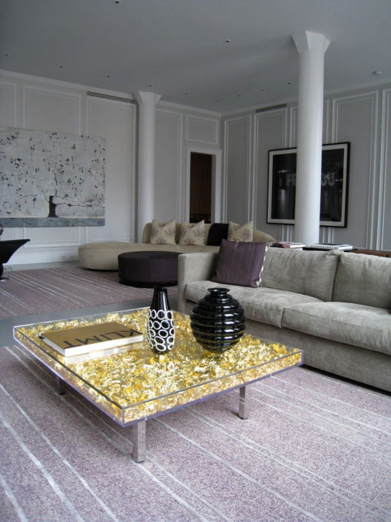 Gold Leaf Table Monogold by Yves Klein For Sale