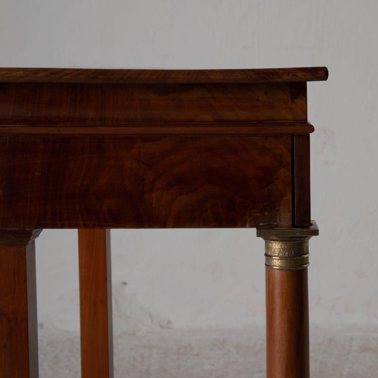 Table Nightstand Swedish 19th Century Mahogany Brass, Sweden For Sale 9
